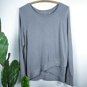 Athleta criss cross hem sweater
